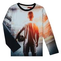 textil Dreng Langærmede T-shirts Desigual FOOTBALL Grå