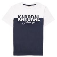 textil Dreng T-shirts m. korte ærmer Kaporal JILEY Hvid