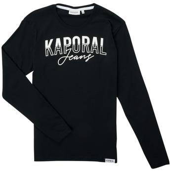 textil Dreng Langærmede T-shirts Kaporal JODLE Sort