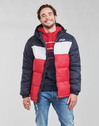 textil Herre Dynejakker Fila SCOOTER PUFFER JACKET Rød / Marineblå / Hvid
