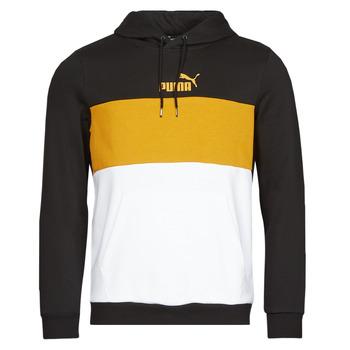 textil Herre Sweatshirts Puma ESS+ COLORBLOCK HOODIE FL Sort / Gul