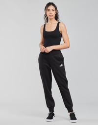 textil Dame Træningsbukser Puma ESS SWEAT PANT FL CL Sort