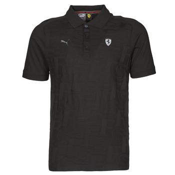 textil Herre Polo-t-shirts m. korte ærmer Puma FERRARI STYLE JACQUARD POLO Sort