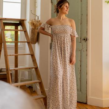 textil Dame Lange kjoler Céleste PATCHOULI Beige / Sort