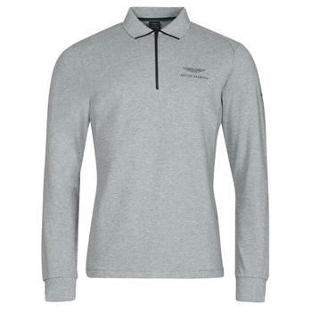 textil Herre Polo-t-shirts m. lange ærmer Hackett HM550878 Grå