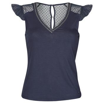 textil Dame T-shirts m. korte ærmer Morgan DUCHES Marineblå