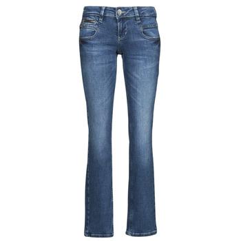 textil Dame Lige jeans Freeman T.Porter ALEXA STRAIGHT SDM Blå / Mørk