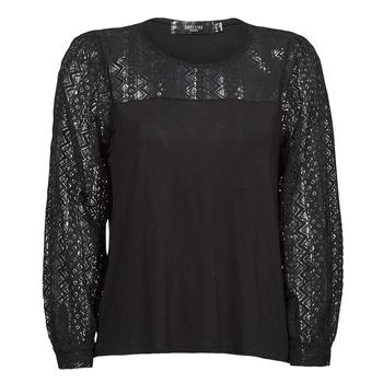 textil Dame Langærmede T-shirts Deeluxe FRIDA Sort