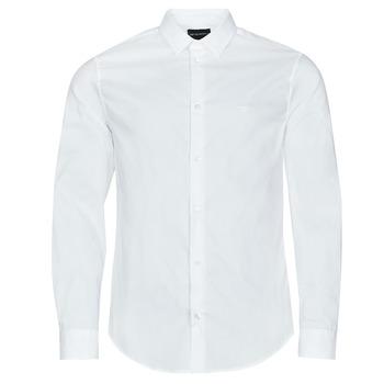 textil Herre Skjorter m. lange ærmer Emporio Armani 8N1C09 Hvid