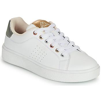 Sko Pige Lave sneakers Kappa SAN REMO Hvid / Guld / Sølv
