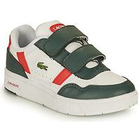 Sko Børn Lave sneakers Lacoste T-CLIP 0121 2 SUI Hvid / Grøn / Rød