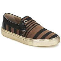 Sko Dame Slip-on Sonia Rykiel STRIPES VELVET Sort / Brun