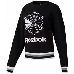 textil Dame Sweatshirts Reebok Sport CL FT Big Logo Crew Hvid, Sort