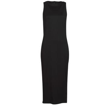 textil Dame Korte kjoler Karl Lagerfeld KITTED WRAP DRESS Sort