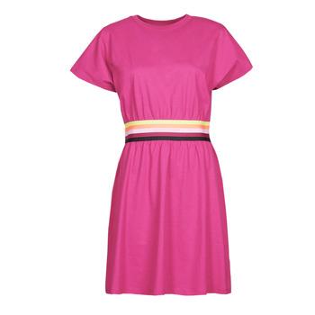 textil Dame Korte kjoler Karl Lagerfeld LOGO TAPE JERSEY DRESS Pink