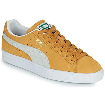Sko Lave sneakers Puma SUEDE Gul / Hvid