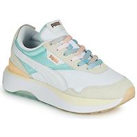Sko Dame Lave sneakers Puma CRUISE RIDER Hvid / Flerfarvet