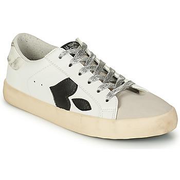 Sko Dame Lave sneakers Le Temps des Cerises AUSTIN Hvid / Sort