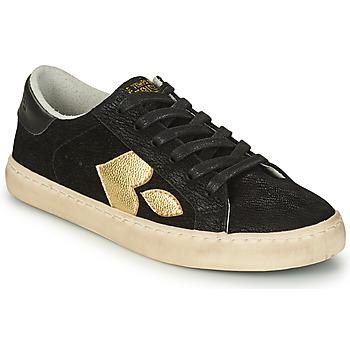 Sko Dame Lave sneakers Le Temps des Cerises AUSTIN Sort / Guld