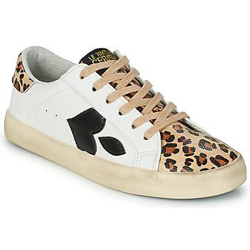 Sko Dame Lave sneakers Le Temps des Cerises AUSTIN Hvid / Leopard