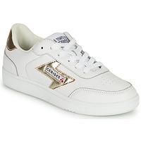 Sko Dame Lave sneakers Le Temps des Cerises FLASH Hvid / Guld