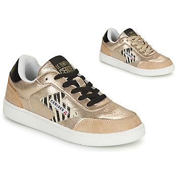 Sko Dame Lave sneakers Le Temps des Cerises FLASH Guld