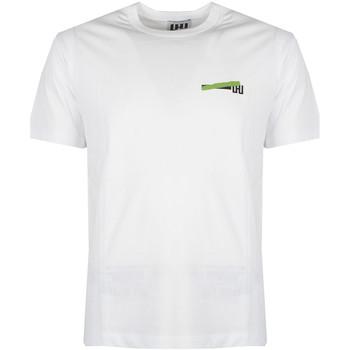 textil Herre T-shirts m. korte ærmer Les Hommes  Hvid