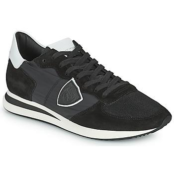 Sko Herre Lave sneakers Philippe Model TRPX LOW BASIC Sort