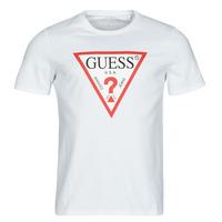 textil Herre T-shirts m. korte ærmer Guess CN SS ORIGINAL LOGO TEE Hvid