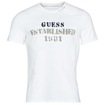 textil Herre T-shirts m. korte ærmer Guess WORKFOR CN SS TEE Hvid