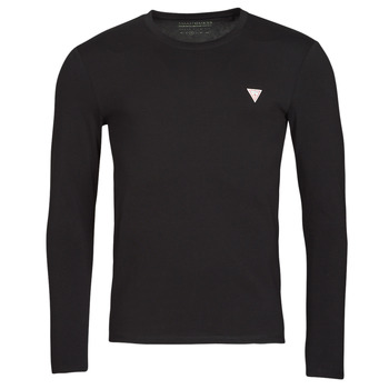 textil Herre Langærmede T-shirts Guess CN LS CORE TEE Sort