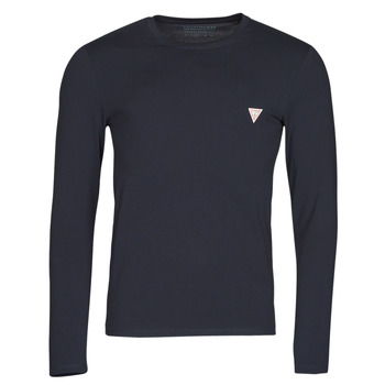 textil Herre Langærmede T-shirts Guess CN LS CORE TEE Marineblå