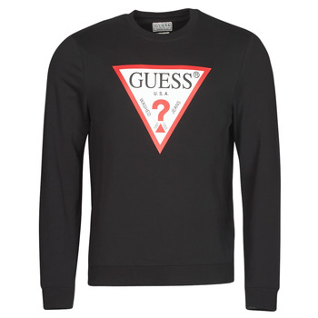 textil Herre Sweatshirts Guess AUDLEY CN FLEECE Sort