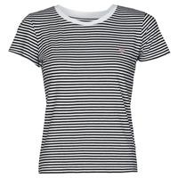 textil Dame T-shirts m. korte ærmer Guess ES SS GUESS LOGO BABY TEE Sort / Hvid