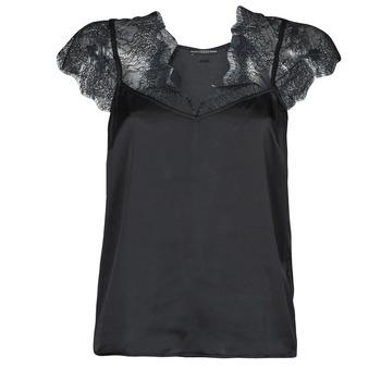 textil Dame Toppe / Bluser Guess SS MIRANDA TOP Sort