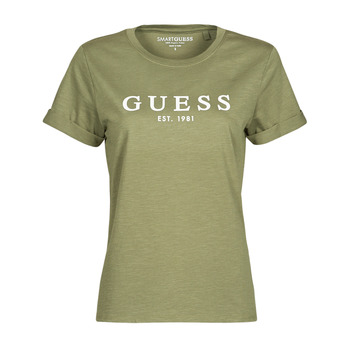 T-shirts m. korte ærmer Guess  ES SS GUESS 1981 ROLL CUFF TEE
