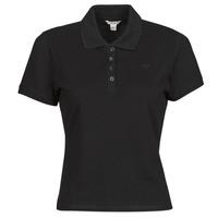 textil Dame Polo-t-shirts m. korte ærmer Guess ES SS GUESS LOGO PIQUE POLO Sort