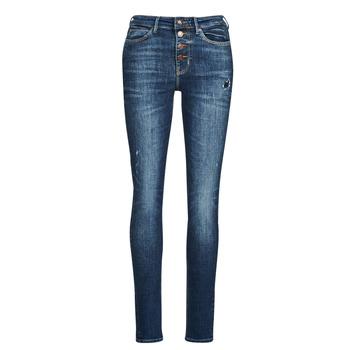 textil Dame Jeans - skinny Guess 1982 EXPOSED BUTTON Blå / Mørk