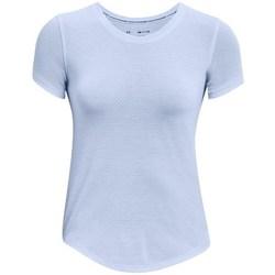 textil Dame T-shirts m. korte ærmer Under Armour Streaker Run Azurblå