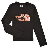 textil Dreng Langærmede T-shirts The North Face EASY TEE LS Sort