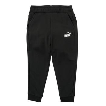 textil Dreng Træningsbukser Puma ESSENTIAL SLIM PANT Sort