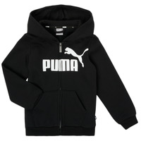 textil Dreng Sweatshirts Puma ESSENTIAL BIG LOGO FZ HOODIE Sort
