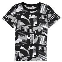 textil Dreng T-shirts m. korte ærmer Puma ALPHA AOP TEE Sort