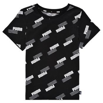 textil Dreng T-shirts m. korte ærmer Puma PUMA POWER AOP TEE Sort