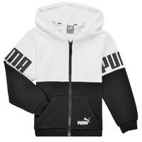 textil Dreng Sweatshirts Puma PUMA POWER FZ HOODIE Sort / Hvid