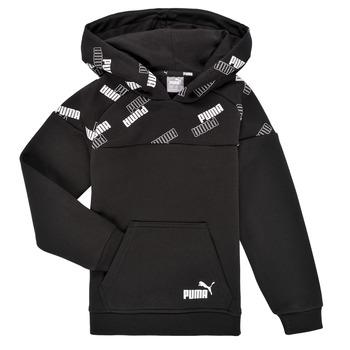 textil Dreng Sweatshirts Puma PUMA POWER AOP HOODIE Sort