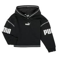 textil Pige Sweatshirts Puma PUMA POWER HOODIE Sort