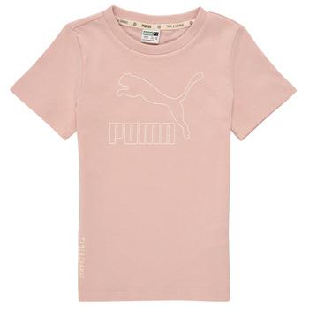 textil Pige T-shirts m. korte ærmer Puma T4C TEE Pink