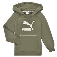 textil Dreng Sweatshirts Puma T4C HOODIE Kaki