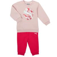 textil Pige Sæt Puma Minicats ALPHA Crew Jogger FL Pink